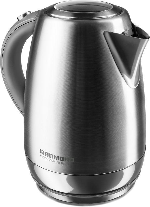 Redmond RK-M172, Dark Gray чайник электрическийRK-M172Чайник Redmond RК-G172 имеет:Носик со съемным фильтром от накипиКорпус из нержавеющей сталиВращение на подставке на 360°Элегантный внешний вид