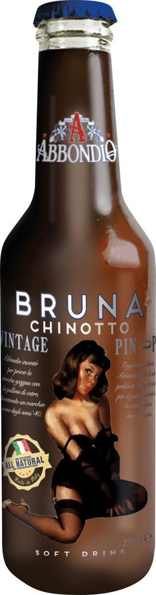 Abbondio PinUp Bruna Chinotto, лимонад безалкогольный слабогазированный, 0,275 л6615Вкус Chinitto родился в 40-е годы на основе оригинального рецепта Abbondio с отобранными экстрактами горько-сладкого вкуса. Стойкое послевкусие, хорошо освежает.