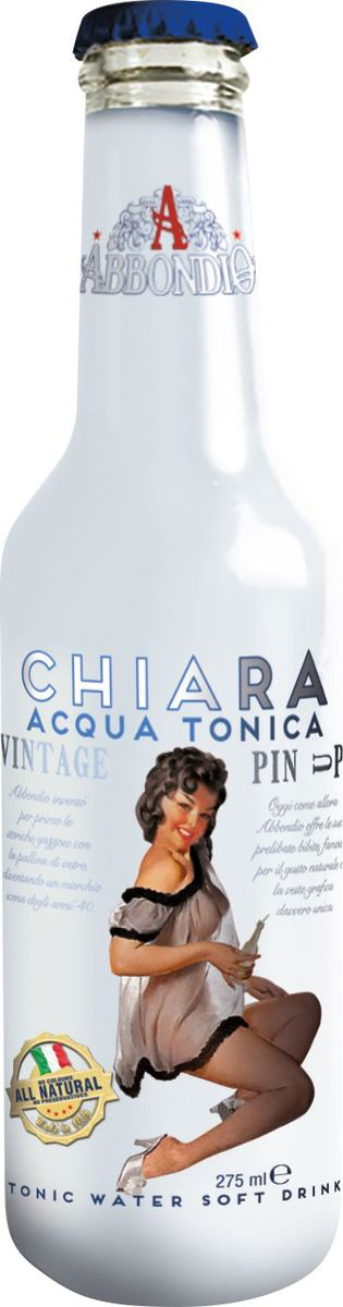 Abbondio PinUp Chiara Acqua Tonica, лимонад безалкогольный слабогазированный, 0,275 л federici spaghetti спагетти 500 г