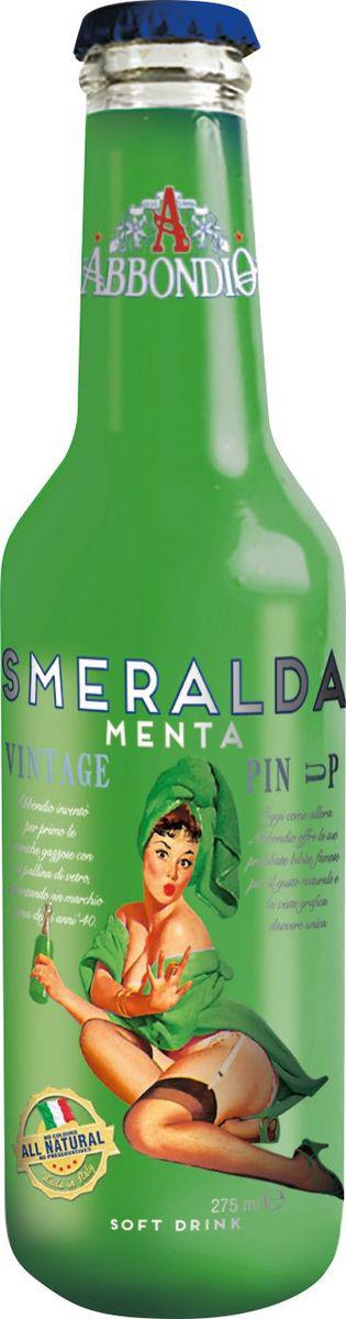 Abbondio PinUp Smeralda Menta, лимонад безалкогольный слабогазированный, 0,275 л6620Прохладный и освежающий напиток, изготовлен из смеси трех различных сортов Пьемонтской мяты, которые придают ему неповторимый и неотразимый вкус. Стойкое мятное послевкусие, хорошо освежает.