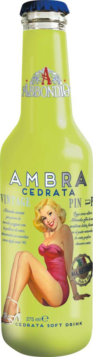 Abbondio PinUp Ambra Cedrata, лимонад безалкогольный слабогазированный, 0,275 л6622Новая интерпретация традиционной итальянской рецептуры Лимонного лимонада с использованием только высококачественного сырья.