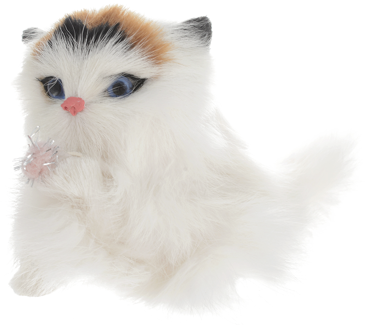 Vebtoy Фигурка Котенок с клубочком цвет белый C212 vebtoy фигурка котенок сидящий цвет белый c226