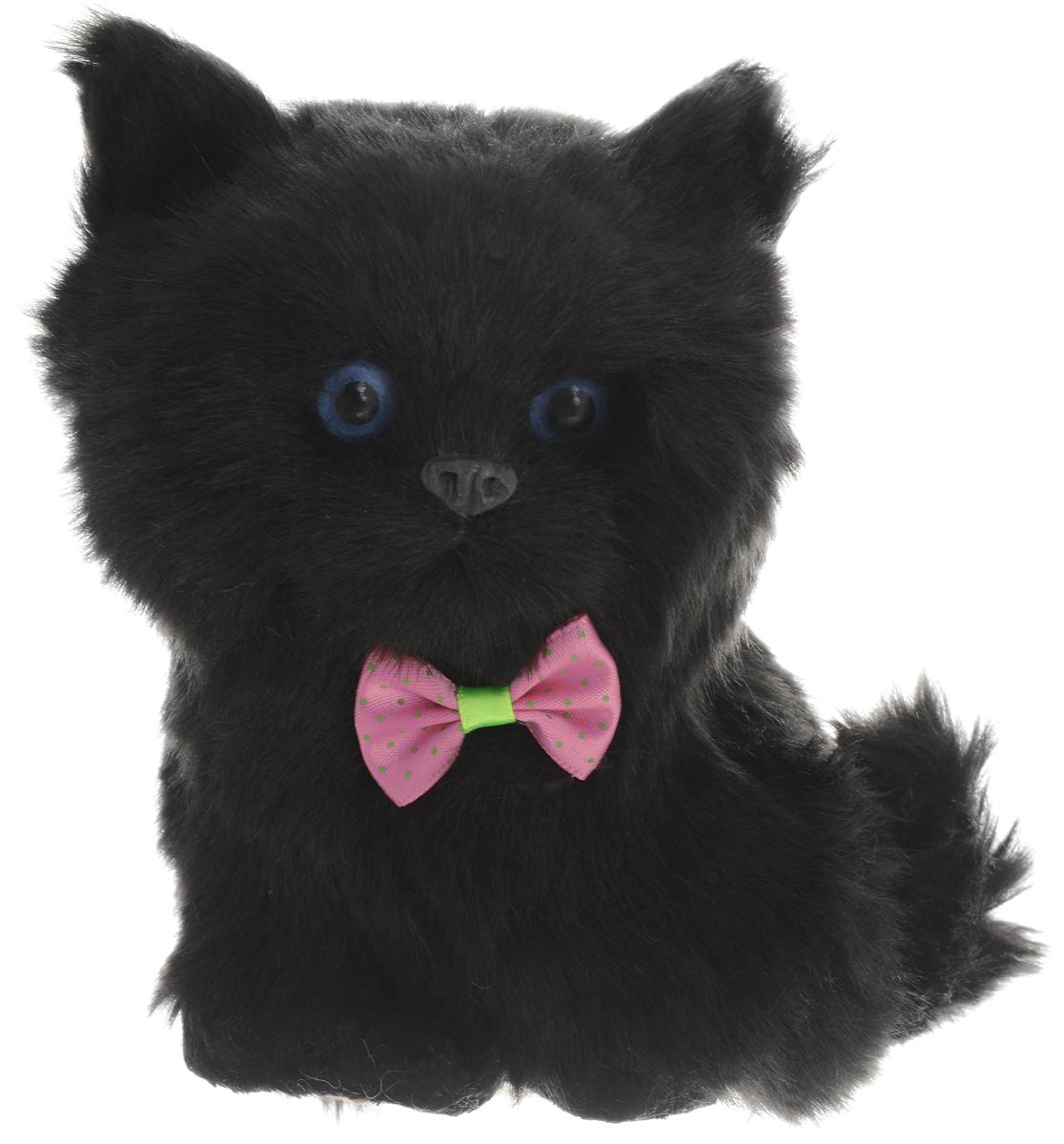 Vebtoy Фигурка Сидящий котенок цвет черный vebtoy фигурка котенок сидящий цвет белый c226