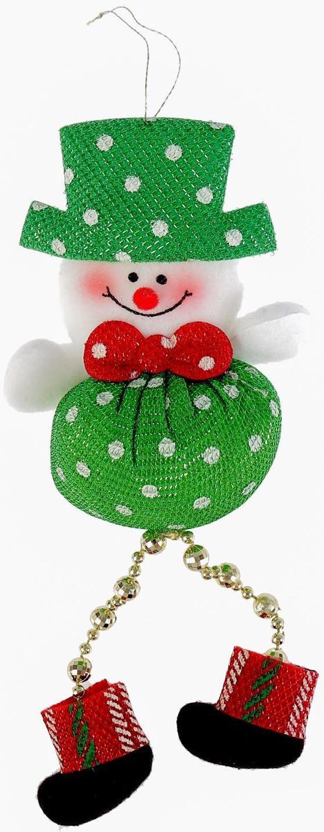 Украшение новогоднее подвесное NoName Пухляш-снеговик. Ножки-бусинки, 6 х 10 см2388984Новогоднее подвесное украшение NoName Пухляш-снеговик. Ножки-бусинки выполнено из текстиля. С помощью специальной петельки украшение можно повесить в любом понравившемся вам месте. Но, конечно, удачнее всего оно будет смотреться на праздничной елке.Елочная игрушка - символ Нового года. Она несет в себе волшебство и красоту праздника. Создайте в своем доме атмосферу веселья и радости, украшая новогоднюю елку нарядными игрушками, которые будут из года в год накапливать теплоту воспоминаний.