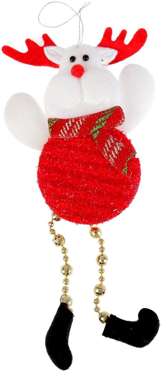 Новогоднее подвесное украшение Олень-кругляш. Ножки-бусинки, 8 х 12 см2388982Новогоднее подвесное украшение Олень-кругляш. Ножки-бусинкивыполнено из текстиля. Спомощьюспециальной петельки украшение можно повесить влюбом понравившемся вамместе. Но, конечно, удачнее всего оно будетсмотреться на праздничной елке.Елочная игрушка - символ Нового года. Она несет всебе волшебство и красотупраздника. Создайте в своем доме атмосферувеселья и радости, украшаяновогоднюю елку нарядными игрушками, которыебудут из года в год накапливатьтеплоту воспоминаний.