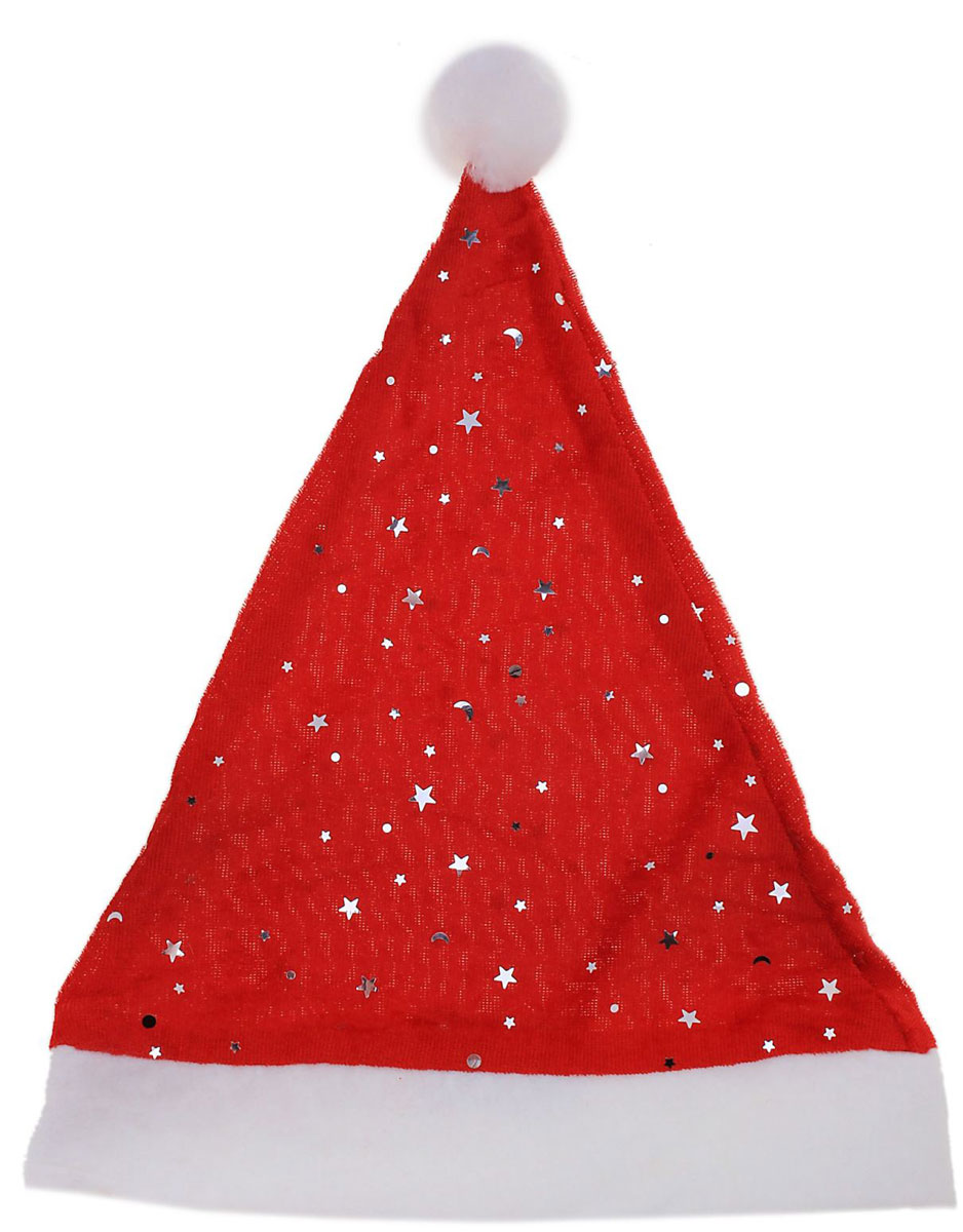 Колпак новогодний Звездочки535445Поддайтесь новогоднему веселью на полную катушку! Забавный колпак в секунду создаст праздничное настроение, будь то поздравление ребятишек или вечеринка с друзьями. Размер изделия универсальный: аксессуар подойдет как для ребенка, так и для взрослого. А мягкий текстиль позволит носить колпак с комфортом на протяжении всей новогодней ночи.