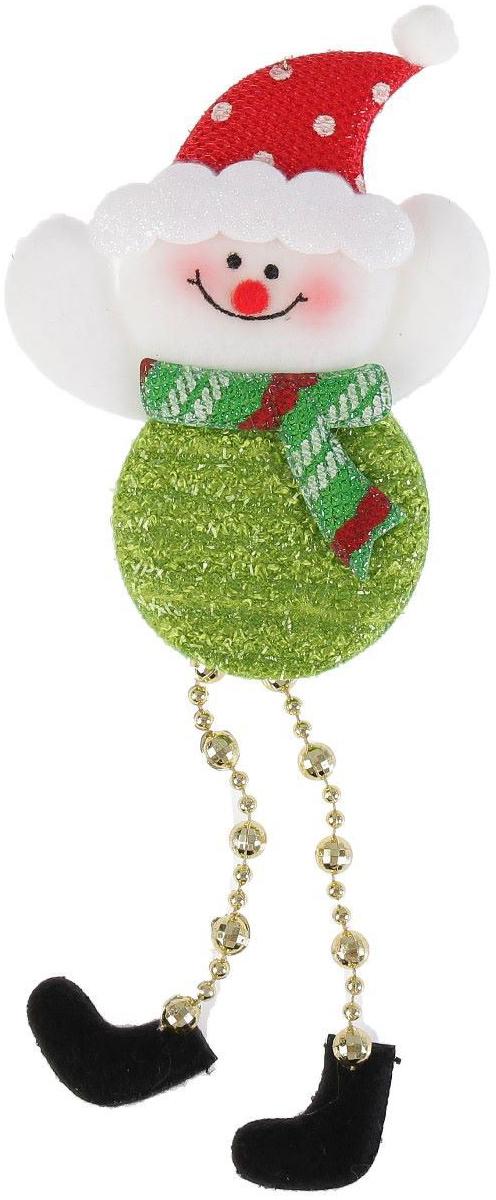 Новогоднее подвесное украшение Снеговик-кругляш. Ножки-бусинки, 8 х 12 см2388980Новогоднее подвесное украшение Снеговик-кругляш. Ножки-бусинкивыполнено из текстиля. Спомощьюспециальной петельки украшение можно повесить влюбом понравившемся вамместе. Но, конечно, удачнее всего оно будетсмотреться на праздничной елке.Елочная игрушка - символ Нового года. Она несет всебе волшебство и красотупраздника. Создайте в своем доме атмосферувеселья и радости, украшаяновогоднюю елку нарядными игрушками, которыебудут из года в год накапливатьтеплоту воспоминаний.