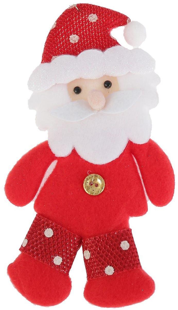 Украшение новогоднее подвесное NoName Дед Мороз. Пуговка, 7 х 15 см2388975Новогоднее подвесное украшение NoName Дед Мороз. Пуговка выполнено из текстиля. С помощью специальной петельки украшение можно повесить в любом понравившемся вам месте. Но, конечно, удачнее всего оно будет смотреться на праздничной елке.Елочная игрушка - символ Нового года. Она несет в себе волшебство и красоту праздника. Создайте в своем доме атмосферу веселья и радости, украшая новогоднюю елку нарядными игрушками, которые будут из года в год накапливать теплоту воспоминаний.
