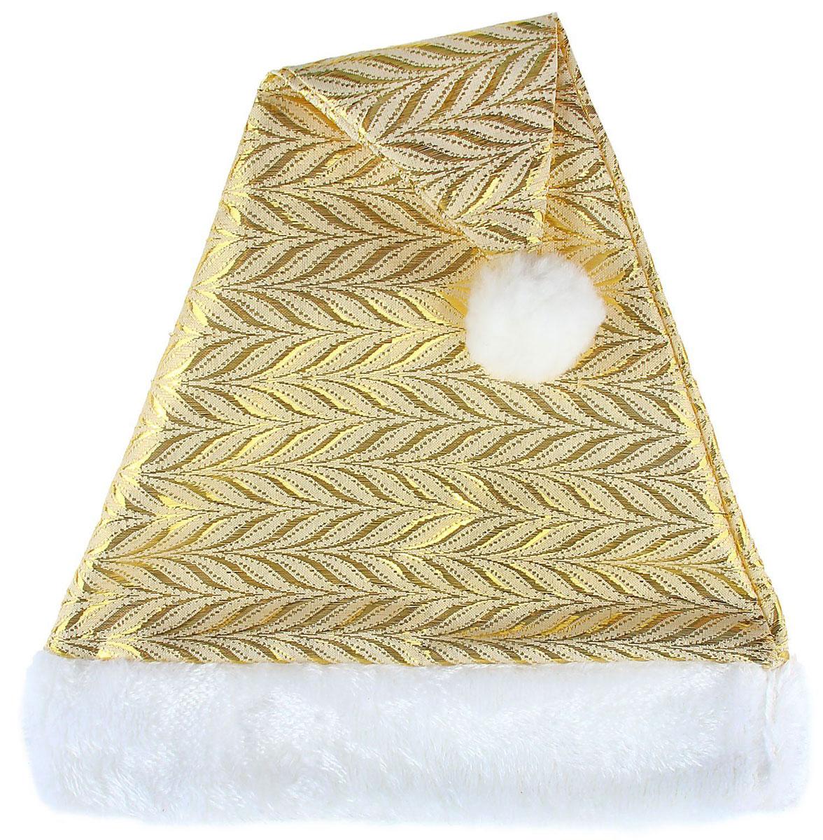 Колпак новогодний Золотая коса, 28 х 41 см1112357Поддайтесь новогоднему веселью на полную катушку! Забавный колпак в секунду создаст праздничное настроение, будь то поздравление ребятишек или вечеринка с друзьями. Размер изделия универсальный: аксессуар подойдет как для ребенка, так и для взрослого. А мягкий текстиль позволит носить колпак с комфортом на протяжении всей новогодней ночи.