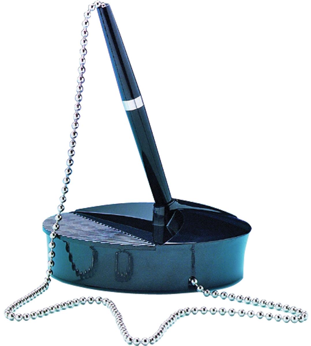 Fellowes Ручка шариковая на подставке синяя цвет корпуса черный338-4Шариковая ручка Fellowes подходит для использования на информационных стойках и письменных столах. Антибактериальное покрытие Microban сохраняет чистоту и предотвращает развитие болезнетворных микробов. Хромовая цепочка длиной 520 мм для комфортного использования. Стабильное утяжеленное основание c присоской.