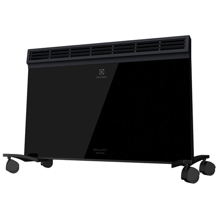 Electrolux Brilliant ECH/B-1500 E электропанельECH/B-1500 EНеповторимый стиль конвектора создает лицевая панель, выполненная из высококлассной термостойкой стеклокерамики, закаленной при температуре 800°С. Безупречная ровная и гладкая блестящая поверхность черного цвета придает конвектору премиальный вид, который позволит ему стать украшением любого интерьера, как классического так и современного.Для максимально эффективного обогрева прибор оснащен нагревательным элементом нового поколения. SX-DUOS увеличенного размера с «ракушечной» поверхностью, которая способствующет быстрому обогреву. Благодаря монолитному исполнению, тщательному контролю на всех этапах производства и используемым материалам нагревательный элемент имеет рекордный срок службы – 25 лет.Одно из безусловных ноу-хау, реализованных в модели Brilliant, – это сверхнадежная монолитная конструкция воздуховыпускных жалюзи, отливающаяся из цельного сплава алюминия. Такое решение не просто продлевает срок службы конвектора, но и создает направленный поток теплого воздуха, который достигает цели без теплопотерь.За безопасность отвечает противоударное покрытие Shock Resistant. Фронтальная панель со специальной многослойной оболочкой сбережет прибор от внешних воздействий. Технология Antivandal обезопасит от травм в случае серьезных повреждений поверхности передней панели.За счет вынесения ножек за область воздухозабора конструкции была увеличена площадь завихрений набегающего потока и площадь теплосъема, что позволило повысить скорость конвекции.Интеллектуальный блок управления EASY PUSH c LED дисплеем обеспечивает интуитивно понятное управление. Легкий доступ к меню для персонализации всех настроек и ввода команд.Блок управления выполнен в том же стилистическом решении, что и другие элементы обогревателя. Это формирует целостную концепцию прибораКонвектор придется по вкусу тем, кто ценит в технике точность, об этом позаботится термостат HFT. Новый тип термостата позволяет контролировать температуру с точность