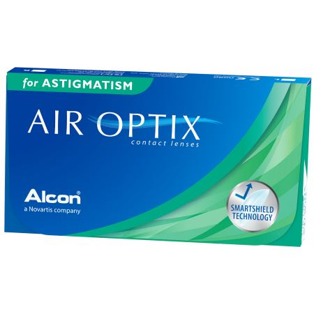 Аlcon контактные линзы Air Optix for Astigmatism 3pk /BC 8.7/DIA14.5/PWR -0.75/CYL -0.75/AXIS 160100003064Мягкие контактные линзы