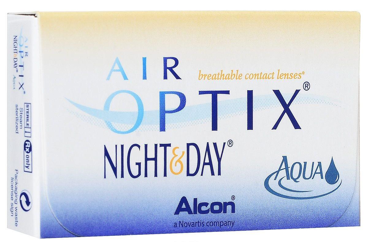 Alcon-CIBA Vision контактные линзы Air Optix Night & Day Aqua (3шт / 8.6 / -2.50)44396Само название линз Air Optix Night & Day Aqua говорит само за себя - это возможность использования одной пары линз 24 часа в сутки на протяжении целого месяца! Это уникальные линзы от мирового производителя Сiba Vision, не имеющие аналогов. Их неоспоримым преимуществом является отсутствие необходимости очищения и ухода за линзами. Линзы рассчитаны на непрерывный график ношения. Изготовлены из современного биосовместимого материала лотрафилкон А, который имеет очень высокий коэффициент пропускания кислорода, обеспечивая его доступ даже во время сна. Наивысшее пропускание кислорода! Кислородопроницаемость контактных линз Air Optix Night & Day Aqua - 175 Dk/t. Это более чем в 6 раз больше, чем у ближайших конкурентов. Еще одно отличие линз Air Optix Night & Day Aqua - их асферический дизайн. Множественные клинические исследования доказали, что поверхность линз устраняет асферические аберрации, что позволяет вам видеть более четко и повышает остроту зрения. Ежемесячные контактные линзы Air Optix Night & Day Aqua характеризуются низким содержанием воды. Именно это позволяет снизить до минимума дегидродацию. В конце дня у вас не возникнет ощущения сухости глаз или дискомфорта. С ними вы сможете наслаждаться жизнью. Контактные линзы Air Optix Night & Day Aqua смогли доказать, что непрерывное ношение линз - это безопасный и удобный метод коррекции зрения! Замена через 1 месяц. Характеристики:Материал: лотрафилкон А. Кривизна: 8.6. Оптическая сила: - 2.50. Содержание воды: 24%. Диаметр: 13,8 мм. Количество линз: 3 шт. Размер упаковки: 9 см х 5 см х 1 см. Производитель: Индонезия. Товар сертифицирован.Уважаемые клиенты! Обращаем ваше внимание на то, что упаковка может иметь несколько видов дизайна. Поставка осуществляется в зависимости от наличия на складе.Контактные линзы или очки: советы офтальмологов. Статья OZON Гид