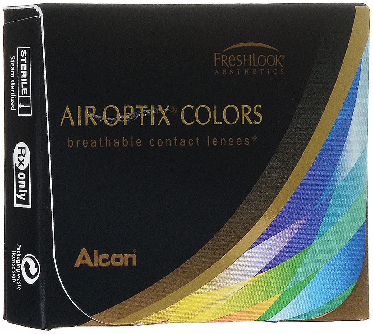Аlcon контактные линзы Air Optix Colors 2 шт -1.25 Sterling Gray