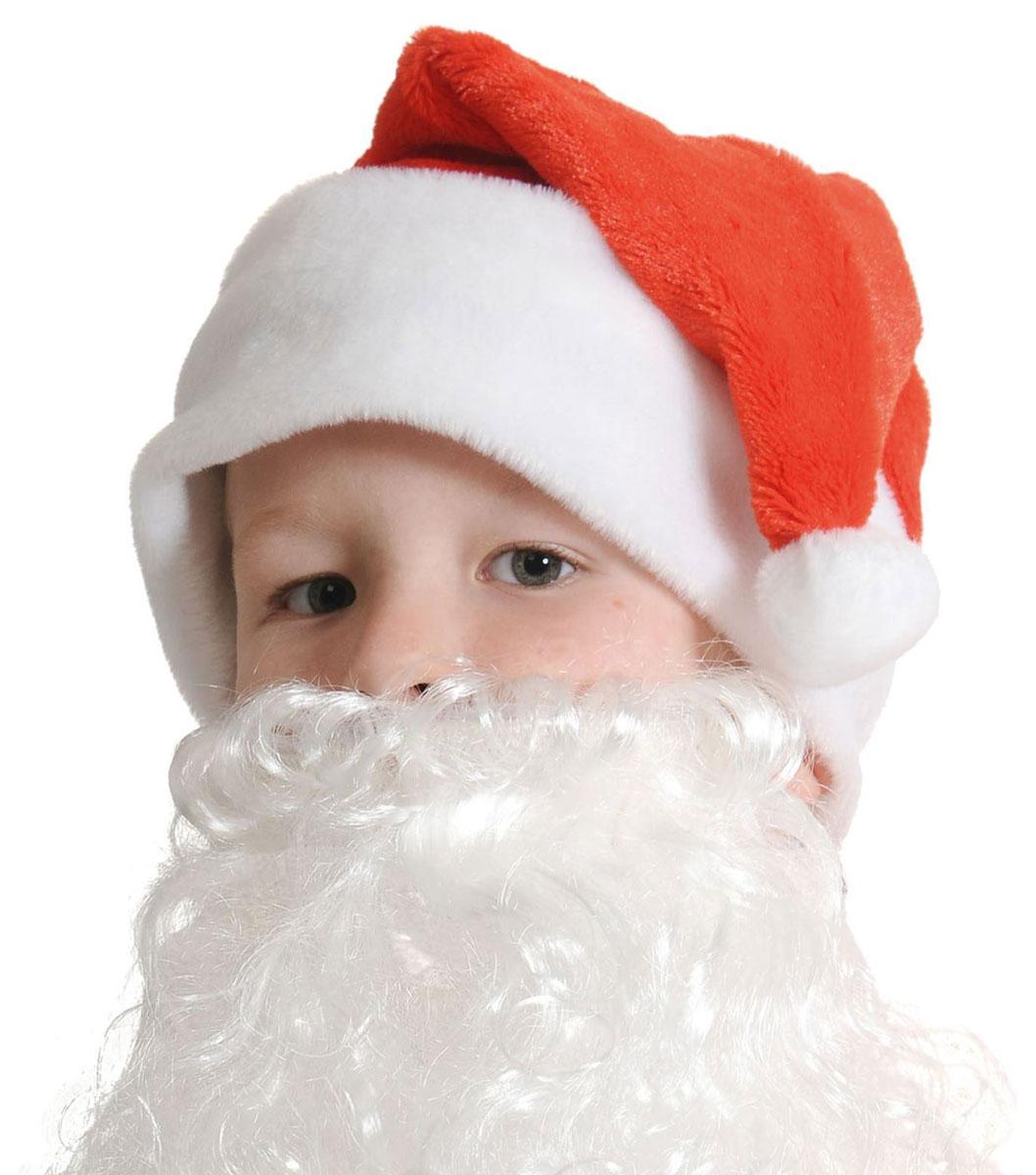 Колпак новогодний С бородой, цвет: красный. Размер 53-55 см. 25128232512823Невозможно представить нашу жизнь без праздников! Мы всегда ждем их и предвкушаем, обдумываем, как проведем памятный день, тщательно выбираем подарки и аксессуары, ведь именно они создают и поддерживают торжественный настрой. Новогодние аксессуары — это отличный выбор, который привнесет атмосферу праздника в ваш дом!