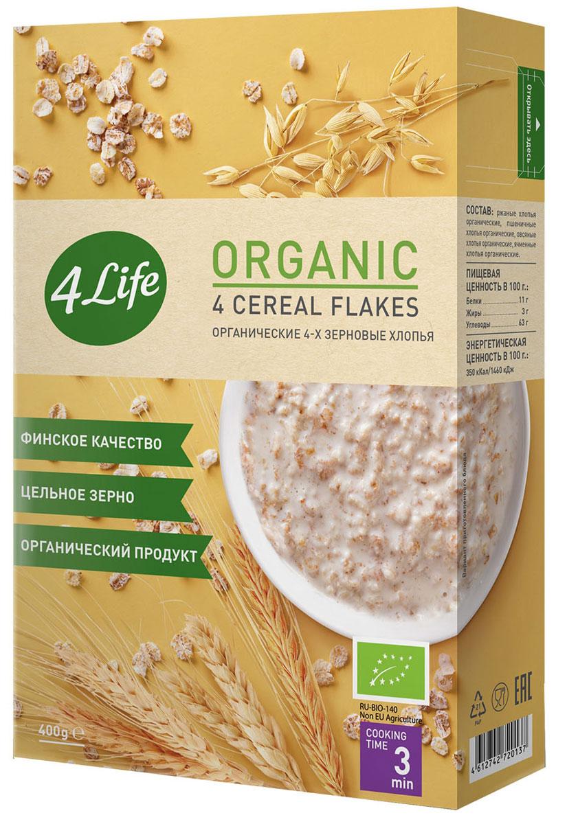 4Life органические 4-х зерновые хлопья, 400 г 4life органические 4 х зерновые хлопья 400 г