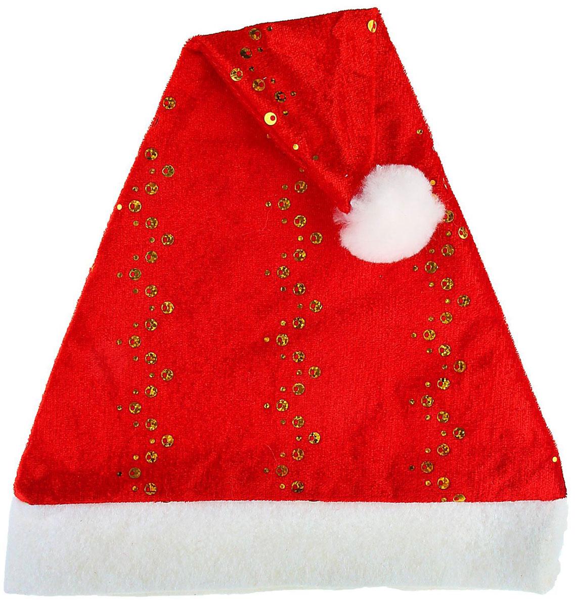 Колпак новогодний Серпантин Золотой зиг-заг, 27 х 35 см1112355Поддайтесь новогоднему веселью на полную катушку! Забавный колпак в секунду создаст праздничное настроение, будь то поздравление ребятишек или вечеринка с друзьями. Размер изделия универсальный: аксессуар подойдет как для ребенка, так и для взрослого. А мягкий текстиль позволит носить колпак с комфортом на протяжении всей новогодней ночи.