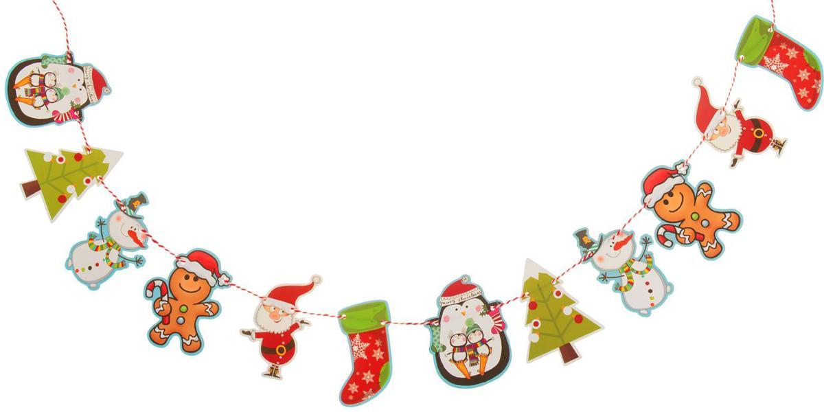 Гирлянда на елку Новогоднее поздравление. 23791162379116Невозможно представить нашу жизнь без праздников! Мы всегда ждем их и предвкушаем, обдумываем, как проведем памятный день, тщательно выбираем подарки и аксессуары, ведь именно они создают и поддерживают торжественный настрой. Это отличный выбор, который привнесет атмосферу праздника в ваш дом!