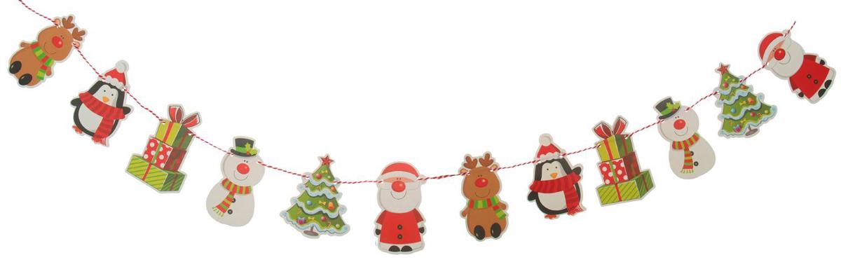 Гирлянда на елку Веселый праздник. 23791142379114Невозможно представить нашу жизнь без праздников! Мы всегда ждем их и предвкушаем, обдумываем, как проведем памятный день, тщательно выбираем подарки и аксессуары, ведь именно они создают и поддерживают торжественный настрой. Это отличный выбор, который привнесет атмосферу праздника в ваш дом!