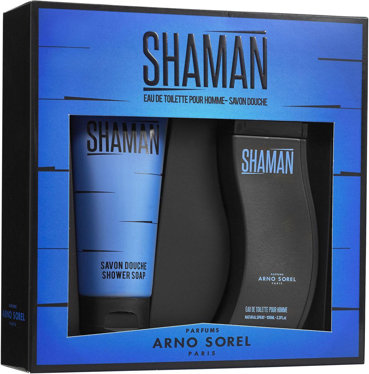 Arno Sorel Набор подарочный мужской Shaman, туалетная вода 100 мл, гель для душа 100 мл corania подарочный набор shaman sport туалетная вода 100 мл гель для душа 100 мл