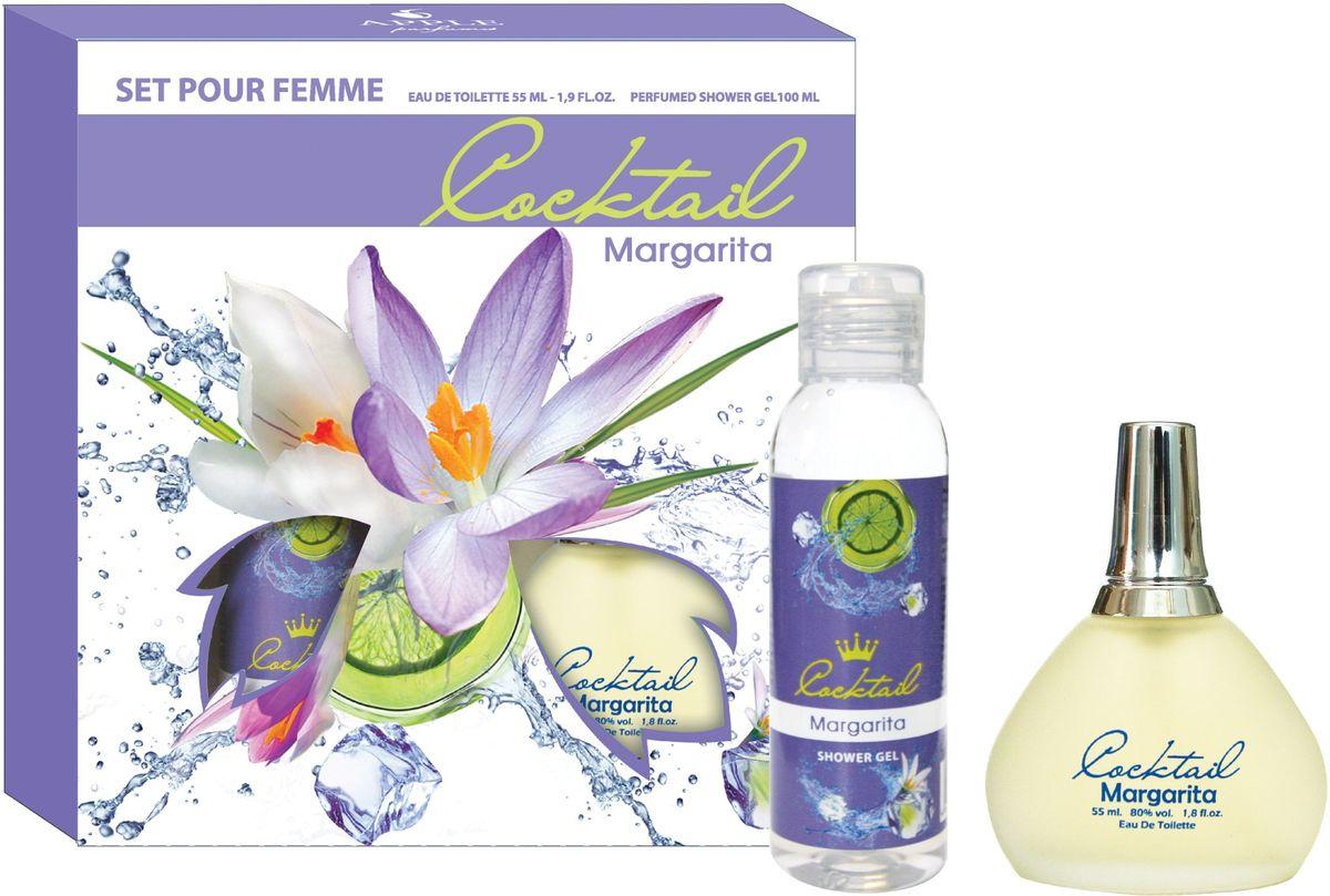 Apple ParfumsНабор подарочный женский Cocktail Margarita, туалетная вода 55 мл, гель для душа 100 мл Apple Parfums
