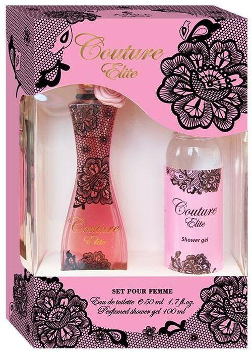 Apple Parfums Набор подарочный женский Couture Elite: туалетная вода 50 мл, гель для душа 100 мл