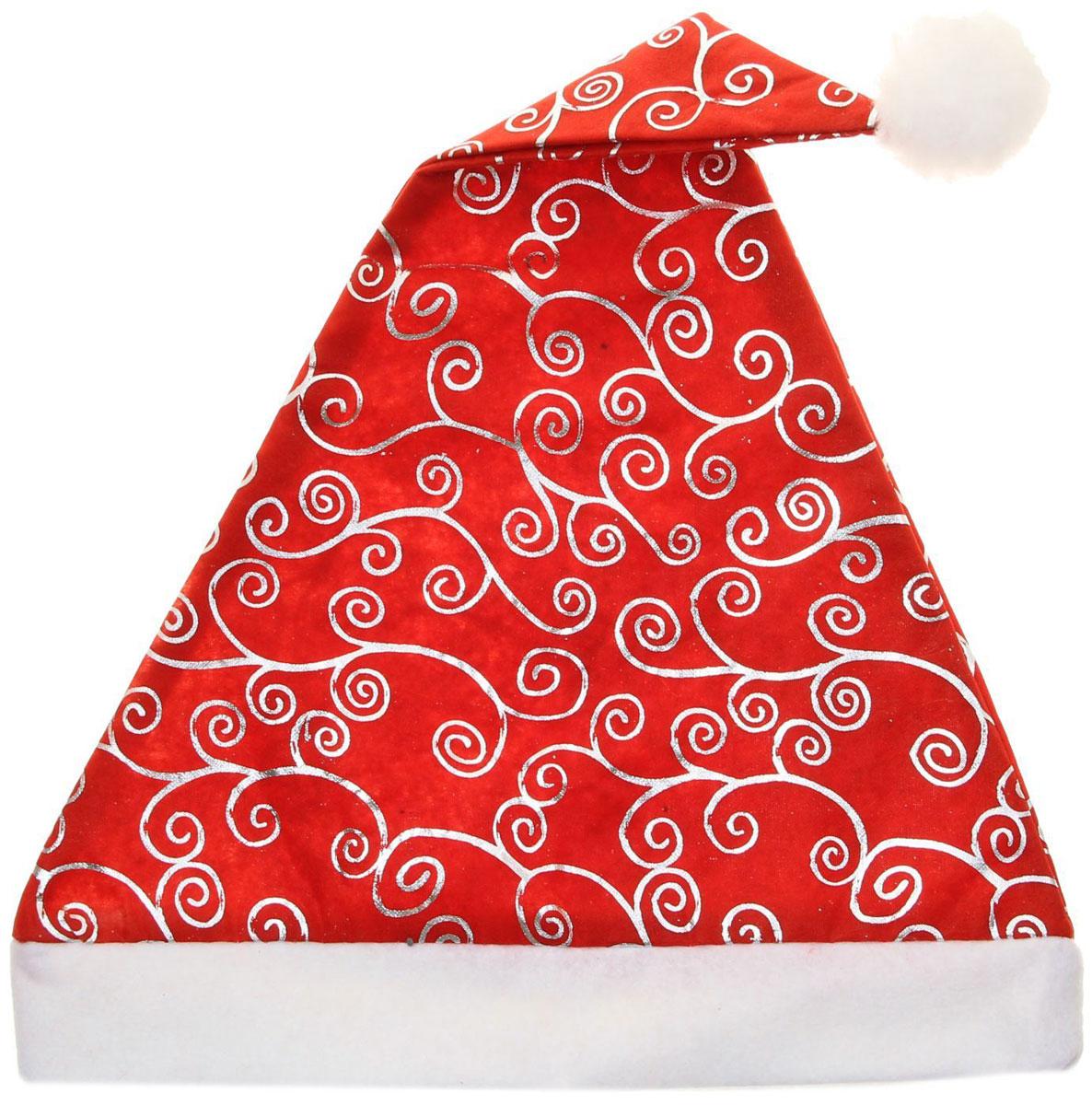 Колпак новогодний Узор, с блеском, цвет: красный703838Поддайтесь новогоднему веселью на полную катушку! Забавный колпак в секунду создаст праздничное настроение, будь то поздравление ребятишек или вечеринка с друзьями. Размер изделия универсальный: аксессуар подойдет как для ребенка, так и для взрослого. А мягкий текстиль позволит носить колпак с комфортом на протяжении всей новогодней ночи.