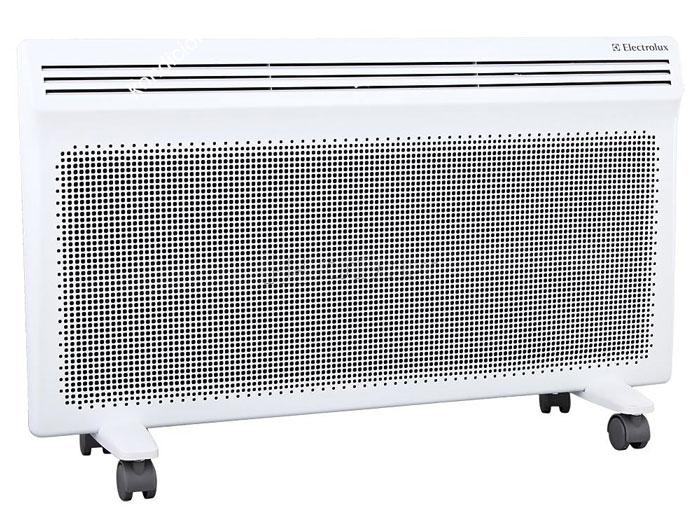 Electrolux EIH/AG2 2000 E обогреватель конвективно-инфракрасныйEIH/AG2 – 2000 EElectrolux создает обновленную версию модели Air Heat – cамого совершенного типа обогревателей, который сочетает одновременно два типа обогрева – конвективный и инфракрасный.Air Heat 2 - это аэродинамический дизайн, широкие функциональные возможности и высокая скорость работы.Прибор получился экономичным за счет того, что тепловая энергия достигает обогреваемых поверхностей без потерь, обеспечивая рациональное распределение тепла. Эффективен в помещениях с любой теплоизоляцией.Комбинированный способ обогреваПри конвективном способе обогрева холодный воздух проходит через нагревательный элемент и равномерно распространяется по всему помещению. Работая по принципу инфракрасного обогрева, прибор повышает температуру воздуха за счет излучения тепловой энергии, которая идет на нагрев окружающих предметов.Главное преимущество инфракрасного обогрева заключается в том, что вся энергия от прибора без каких-либо потерь достигает обогреваемых поверхностей. Таким образом происходит рациональное распределение тепла, что создает мягкий и комфортный микроклимат в помещении, без дополнительных затрат электроэнергии.Два нагревательных элементаВ серии Air Heat 2 реализована система комбинированного обогрева Y-DUOS из 2-х нагревательных элементов. Скорость нагрева выше на 15% по сравнению с аналогичными решениями благодаря большей поверхности теплоотдачи. Y-DUOS позволяет создавать широкий поток инфракрасных лучей и нагревать большой объем воздуха, участвующего в конвективном движении. Высокотехнологичное покрытие нагревательного элемента Anodic Coat усиливает мощность инфракрасного излучения, увеличивая радиус действия до 20%. Срок службы нагревательного элемента составляет не менее 25 лет.При высокой эффективности нагревательный элемент Y-DUOS совершенно безопасен для пользователей, что подтверждено сертификатами качества.Воздухозаборник HDЗа счет вынесения ножек за область воздухозабора конструкции была 