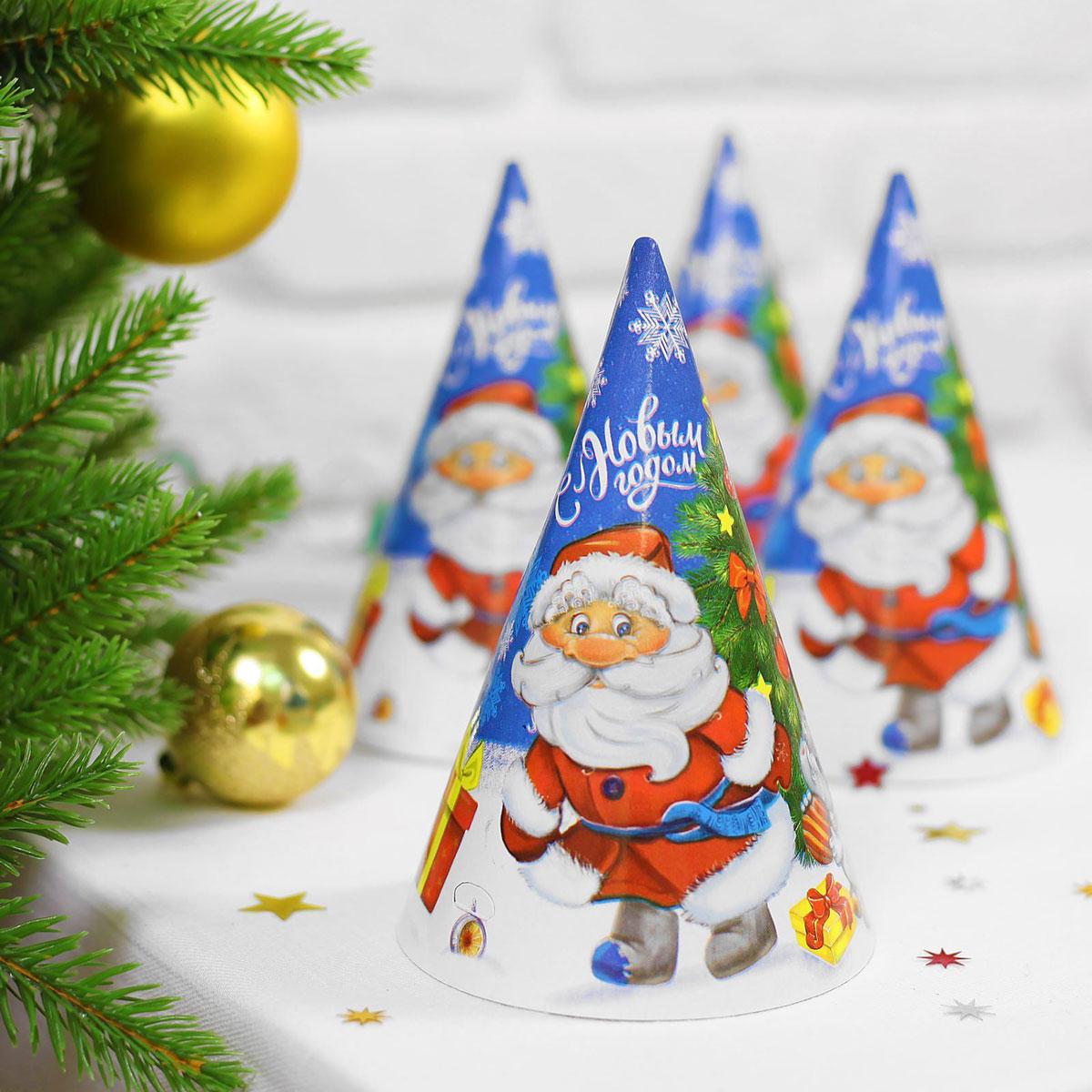 Колпак новогодний Страна Карнавалия Дед Мороз с зайчонком2476635Невозможно представить нашу жизнь без праздников! Мы всегда ждем их и предвкушаем, обдумываем, как проведем памятный день, тщательно выбираем подарки и аксессуары, ведь именно они создают и поддерживают торжественный настрой. Это отличный выбор, который привнесет атмосферу праздника в ваш дом!