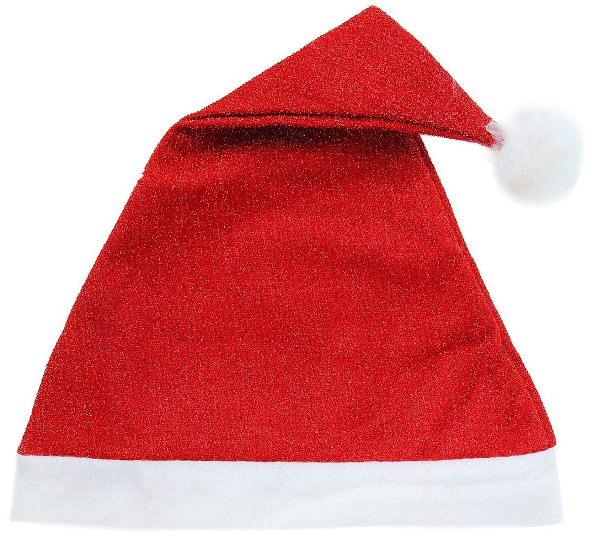 Колпак новогодний, с люрексом, цвет: красный, 29 х 40 см1112363Поддайтесь новогоднему веселью на полную катушку! Забавный колпак в секунду создаст праздничное настроение, будь то поздравление ребятишек или вечеринка с друзьями. Размер изделия универсальный: аксессуар подойдет как для ребенка, так и для взрослого. А мягкий текстиль позволит носить колпак с комфортом на протяжении всей новогодней ночи.