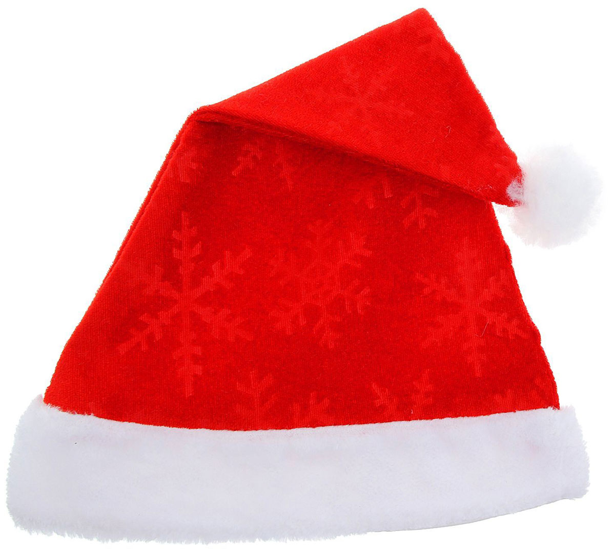 Колпак новогодний, со снежинками и крапинкой535449Поддайтесь новогоднему веселью на полную катушку! Забавный колпак в секунду создаст праздничное настроение, будь то поздравление ребятишек или вечеринка с друзьями. Размер изделия универсальный: аксессуар подойдет как для ребенка, так и для взрослого. А мягкий текстиль позволит носить колпак с комфортом на протяжении всей новогодней ночи.
