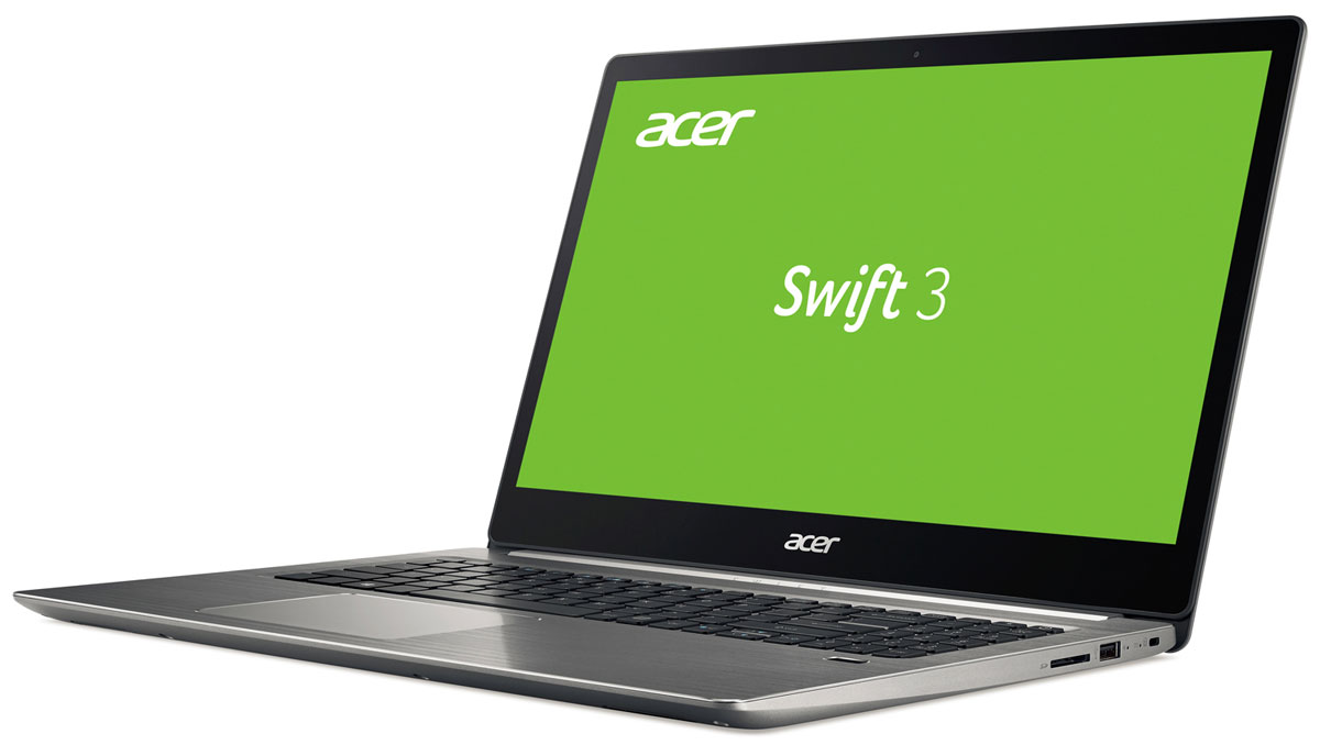 Acer Swift 3 SF315-51-55TM, SilverSF315-51-55TMЭлегантный - только так можно описать роскошный тонкий ноутбук Acer Swift 3 с металлической крышкой и прохладным на ощупь корпусом. Тонкий дизайн - не просто характеристика корпуса. Это стильный способ заявить о себе, своей мобильности и свободе. Прохладный на ощупь металл, из которого создан тонкий корпус, придает ноутбуку индивидуальности.Выполняйте рабочие задачи любой сложности благодаря новейшему процессору Intel Core i5-го поколения и встроенной графической системе Intel HD Graphics.Встроенный датчик отпечатка пальца и технология Windows Hello позволят защитить ваши данные и быстро выполнять вход в систему без пароля.Благодаря клавиатуре с подсветкой можно с легкостью набирать текст даже при слабом освещении.Технология 2x2 802.11ac обеспечивает надежное и устойчивое беспроводное подключение.Ноутбук сертифицирован EAC и имеет русифицированную клавиатуру и Руководство пользователя.
