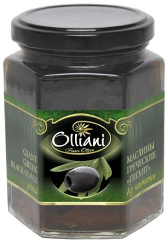 Olliani маслины гигант консервированные без косточки, 280 мл4650058460255Обладают мягким вкусом, что достигается благодаря довольно позднему сбору урожая - с середины ноября и до конца декабря, когда они полностью созрели. Также оливки этого сорта характеризуются тонкой кожицей и сочной мякотью.