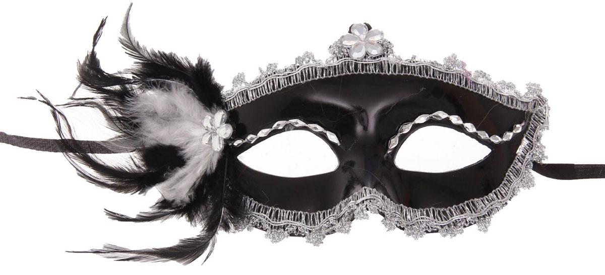 Маска Карнавальная Страна Карнавалия Мгла, с перьями. 1102617 карнавальная маска череп хаки