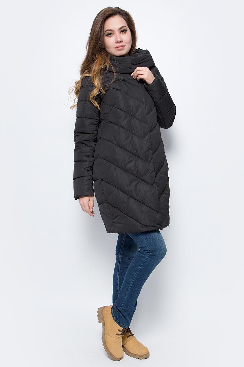 Куртка женская Grishko, цвет: черный. AL - 3298. Размер 48AL - 3298Стильное пальто на молнии и кнопках с прорезными карманами на кнопках. Теплый удобный капюшон и комфортная длина делают его незаменимой вещью в холодную осеннюю и зимнюю погоду. Утеплитель 100% микрофайбер – утеплитель нового поколения, который отличается повышенной теплоизоляцией, антибактериальными свойствами, долговечностью в использовании, и необычайно легок в носке и уходе. Изделия легко стираются в машинке, не теряя первоначального внешнего вида. Комфортная температура носки до -15 градусов.