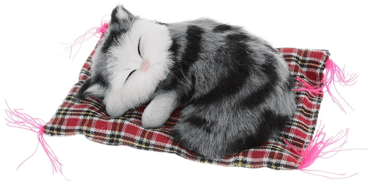 Vebtoy Фигурка Котенок на коврике цвет серый CM382