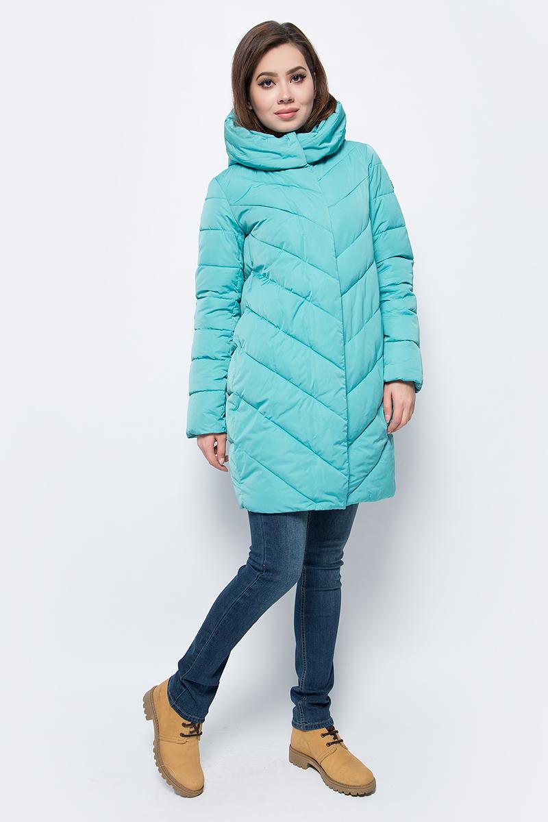 Куртка женская Grishko, цвет: бирюзовый. AL - 3298. Размер 50AL - 3298Стильное пальто на молнии и кнопках с прорезными карманами на кнопках. Теплый удобный капюшон и комфортная длина делают его незаменимой вещью в холодную осеннюю и зимнюю погоду. Утеплитель 100% микрофайбер – утеплитель нового поколения, который отличается повышенной теплоизоляцией, антибактериальными свойствами, долговечностью в использовании, и необычайно легок в носке и уходе. Изделия легко стираются в машинке, не теряя первоначального внешнего вида. Комфортная температура носки до -15 градусов.
