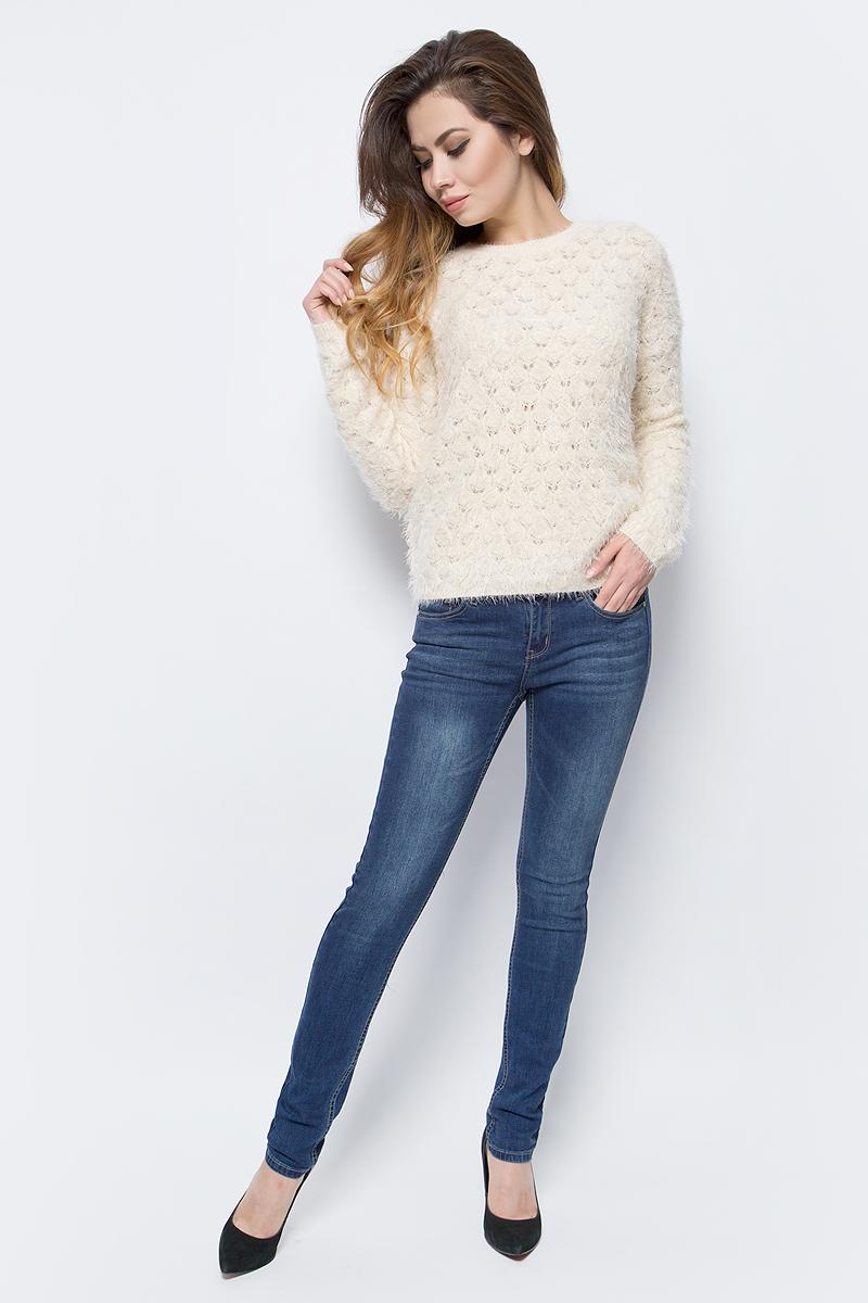 Джинсы женские Sela, цвет: темно-синий джинс. PJ-135/040-7361. Размер 25-32 (40-32)PJ-135/040-7361Женские джинсы от Sela выполнены из эластичного хлопкового денима. Модель прямого кроя в поясе застегивается на пуговицу и ширинку на молнии, имеются шлевки для ремня. Джинсы имеют классический пятикарманный крой.