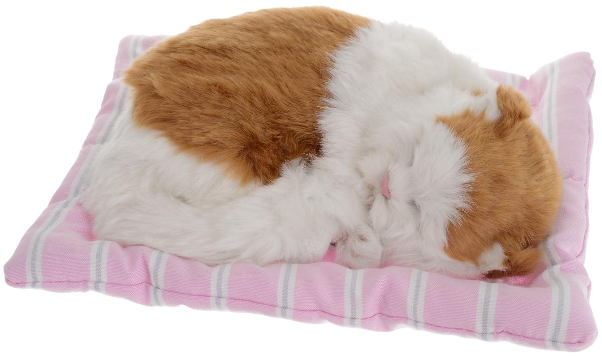Vebtoy Фигурка Спящая кошка на коврике цвет рыжий
