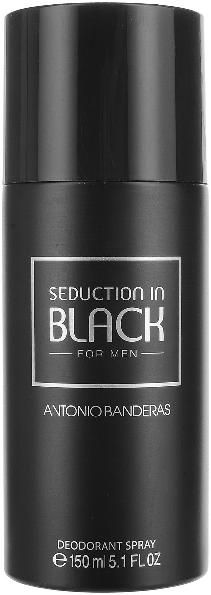 Antonio Banderas Seduction In Black Man Дезодорант-спрей, мужской, 150 мл
