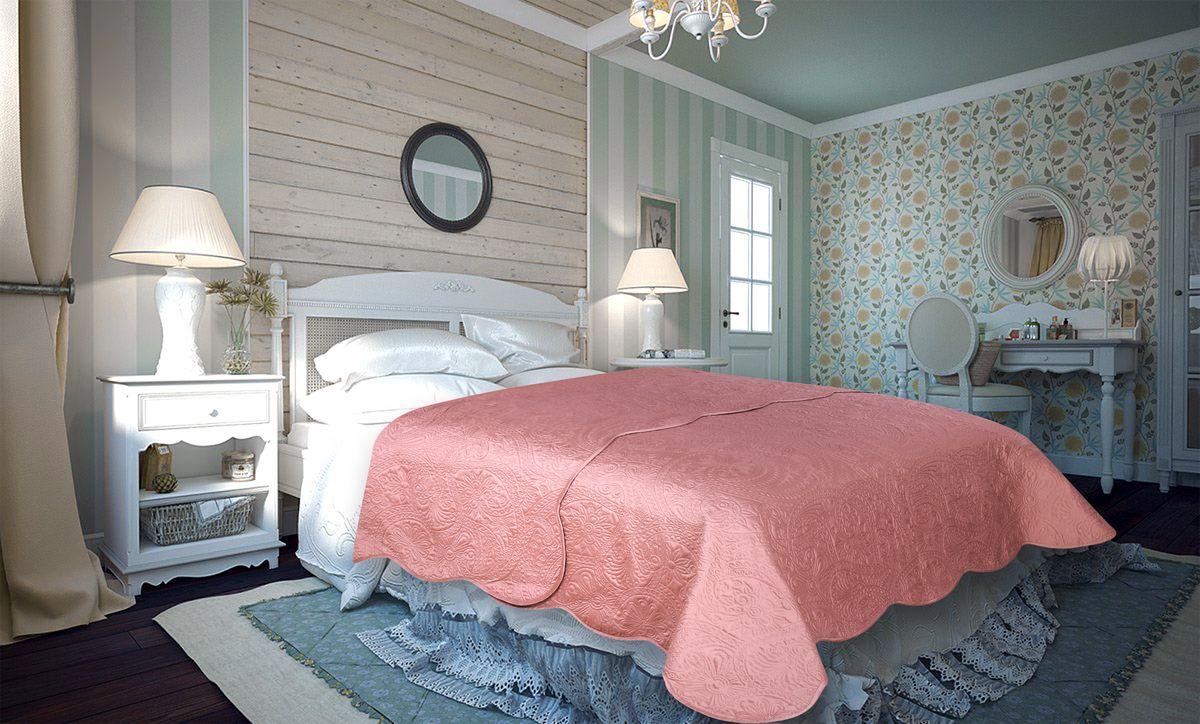 Покрывало Amore Mio Peisley, цвет: розовый, 220 х 240 см86128Покрывало Amore Mio Atlas - легкое и современное придаст вашей спальне элегантности, спокойствия и уюта. Роскошь и утонченный вкус.