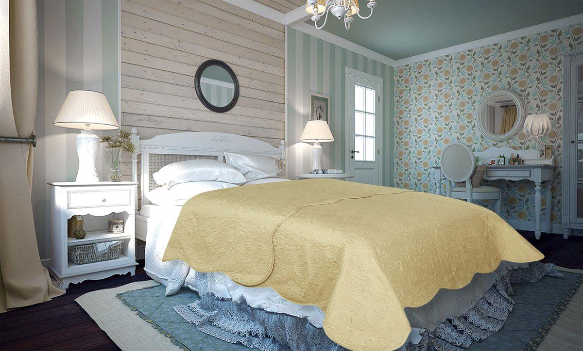Покрывало Amore Mio Peisley, цвет: бежевый, 220 х 240 см86130Покрывало Amore Mio Atlas - легкое и современное придаст вашей спальне элегантности, спокойствия и уюта. Роскошь и утонченный вкус.