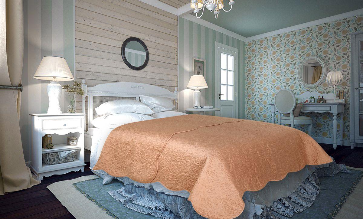 Покрывало Amore Mio Damask, цвет: бежевый, 220 х 240 см86132Покрывало Amore Mio Atlas - легкое и современное придаст вашей спальне элегантности, спокойствия и уюта. Роскошь и утонченный вкус.
