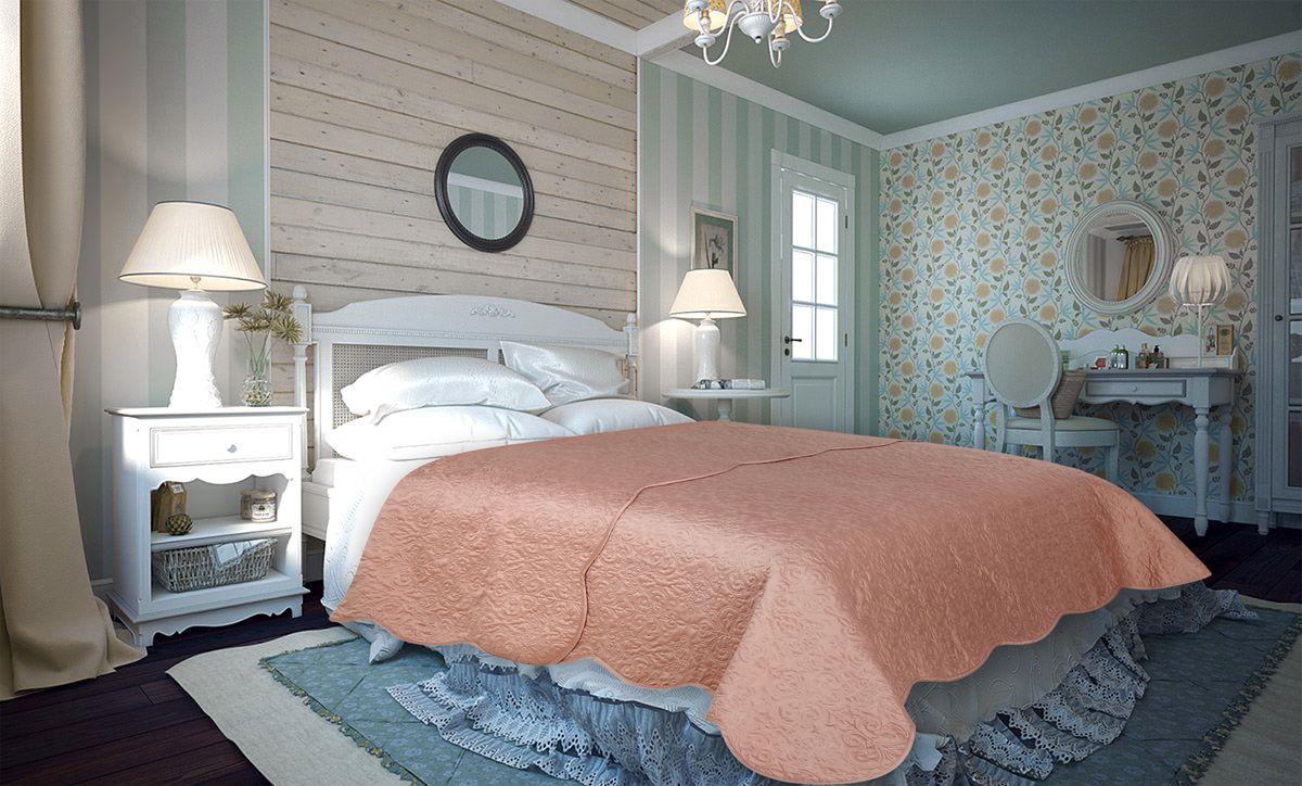 Покрывало Amore Mio Damask, цвет: персиковый, 220 х 240 см86133Покрывало Amore Mio Atlas - легкое и современное придаст вашей спальне элегантности, спокойствия и уюта. Роскошь и утонченный вкус.