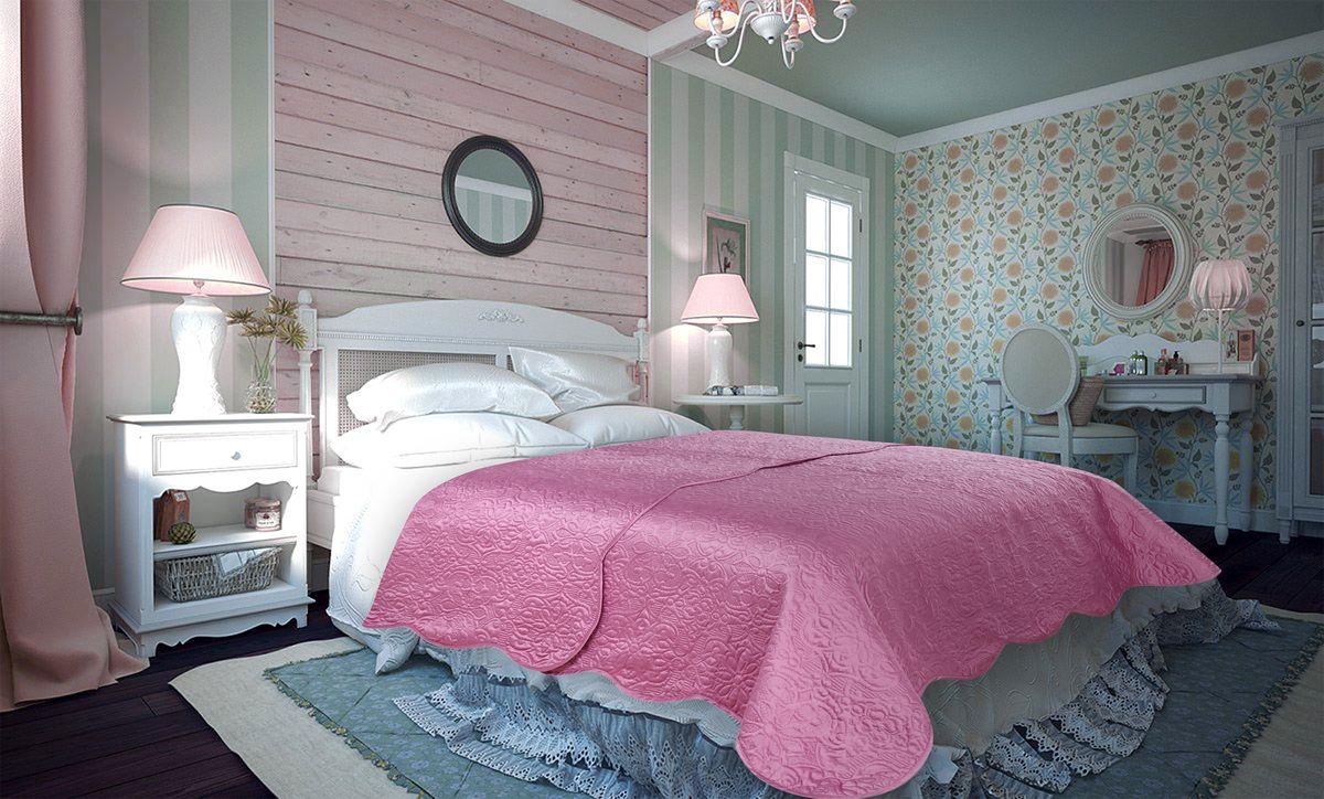 Покрывало Amore Mio Trire, цвет: темно-розовый, 220 х 240 см86134Покрывало Amore Mio Atlas - легкое и современное придаст вашей спальне элегантности, спокойствия и уюта. Роскошь и утонченный вкус.
