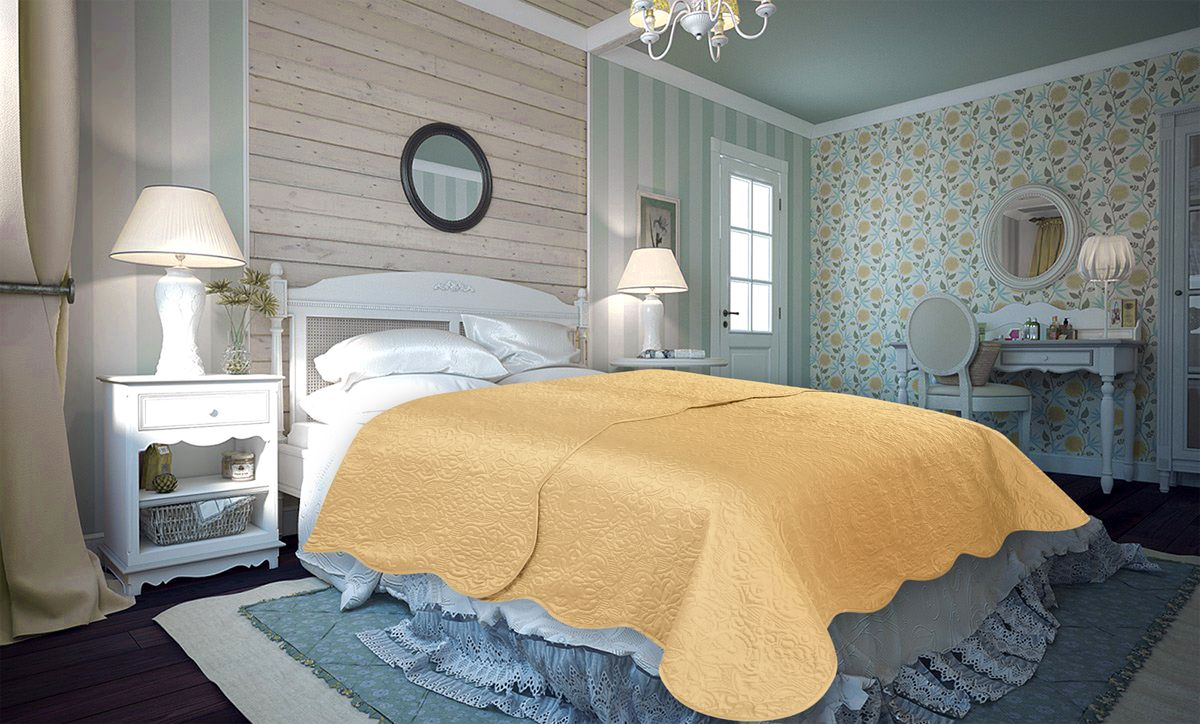 Покрывало Amore Mio Trire, цвет: бежевый, 220 х 240 см86135Покрывало Amore Mio Atlas - легкое и современное придаст вашей спальне элегантности, спокойствия и уюта. Роскошь и утонченный вкус.