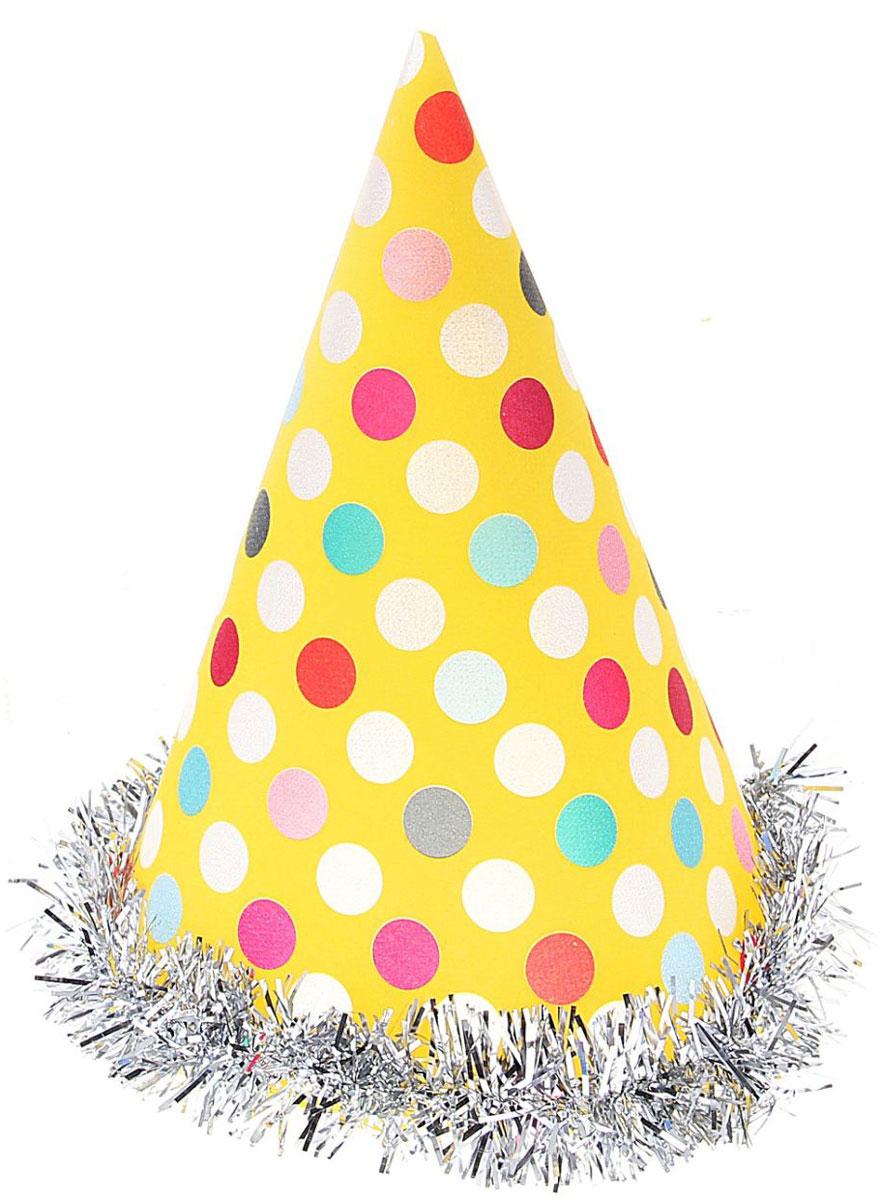 Колпак праздничный Страна Карнавалия Цветной горох, с подсветкой, 20 см329585Невозможно представить нашу жизнь без праздников! Мы всегда ждем их и предвкушаем, обдумываем, как проведем памятный день, тщательно выбираем подарки и аксессуары, ведь именно они создают и поддерживают торжественный настрой. Это отличный выбор, который привнесет атмосферу праздника в ваш дом!