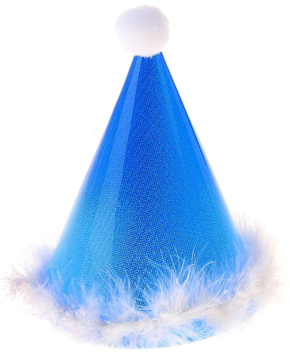 Колпак праздничный Страна Карнавалия, с подсветкой, цвет: синий, 18 см329579Невозможно представить нашу жизнь без праздников! Мы всегда ждем их и предвкушаем, обдумываем, как проведем памятный день, тщательно выбираем подарки и аксессуары, ведь именно они создают и поддерживают торжественный настрой. Это отличный выбор, который привнесет атмосферу праздника в ваш дом!
