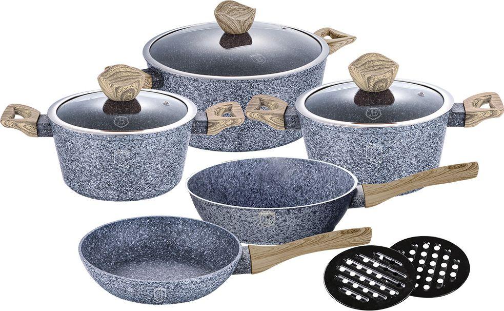 """Набор посуды Berlinger Haus """"Forest Line"""", цвет: серый, 10 предметов. 1564-BH"""