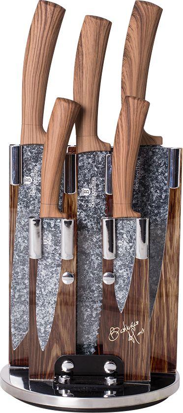 Набор ножей Berlinger Haus Forest Line, на подставке, 6 предметов. 2160-BH набор ножей bayerhoff на подставке 6 предметов bh 5101